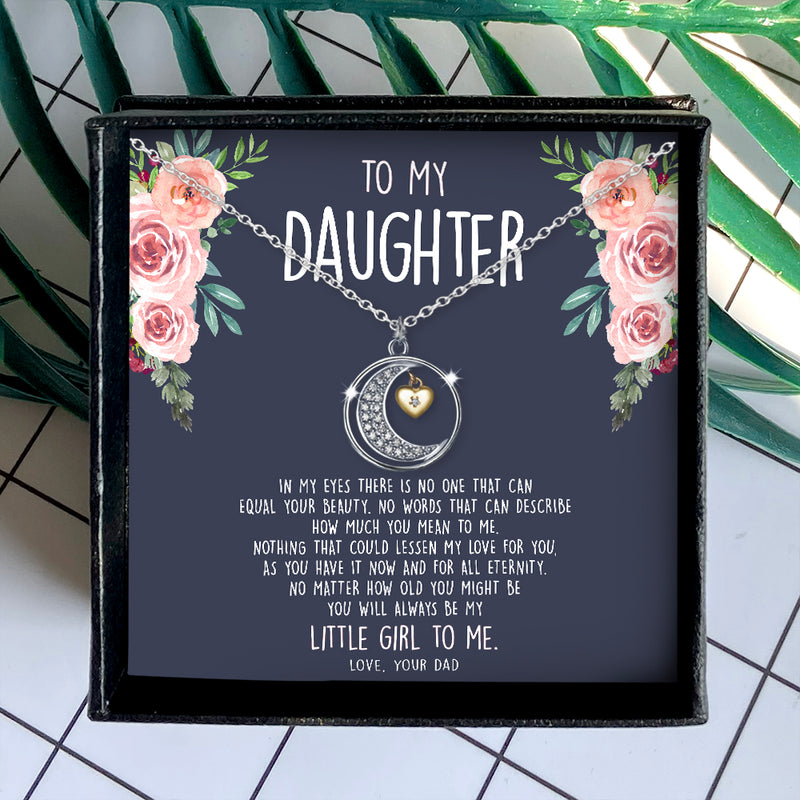 HOW MUCH YOU MEAN TO ME  - NECKLACE FOR DAUGHTER