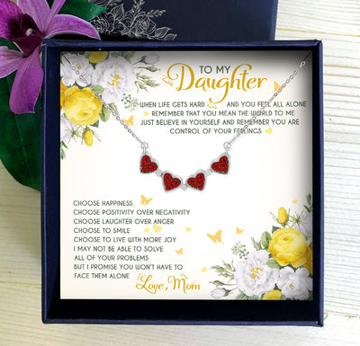 YOU MEAN THE WORLD TO ME - NECKLACE FOR DAUGHTER FROM MOM
