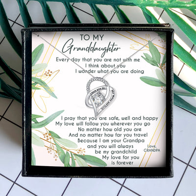 I PRAY THAT YOU ARE SAFE, WELL AND HAPPY - NECKLACE FOR GRANDDAUGHTER