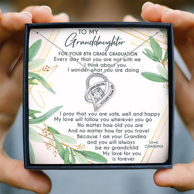 MY LOVE FOR YOU FOREVER - NECKLACE FOR GRANDDAUGHTER FROM GRANDMA