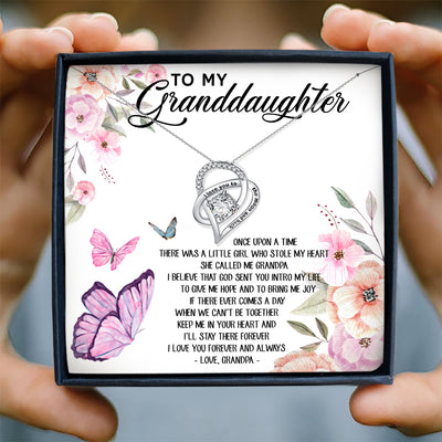 I'LL STAY THERE FOREVER - NECKLACE FOR GRANDDAUGHTER FROM GRANDPA