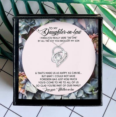 YOU'RE PART OF OUR FAMILY - NECKLACE FOR DAUGHTER-IN-LAW FROM MOTHER-IN-LAW