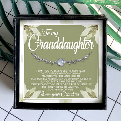 I WANT YOU TO BELIEVE DEEP IN YOUR HEART - SPECIAL GIFT FOR GRANDDAUGHTER