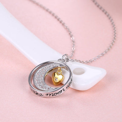 I LOVE YOU TO THE MOON AND BACK - NECKLACE FOR DAUGHTER