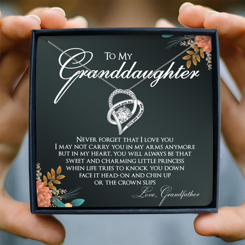NEVER FORGET THAT I LOVE YOU - NECKLACE FOR GRANDDAUGHTER FROM GRANDFATHER