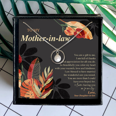 YOU ARE A GIFT TO ME - NECKLACE FOR MOTHER-IN-LAW FROM DAUGHTER-IN-LAW