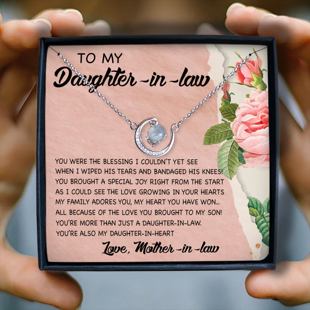 YOU'RE MORE THAN JUST A DAUGHTER-IN-LAW - CRYSTAL CLAVICLE NECKLACE FOR DAUGHTER-IN-LAW