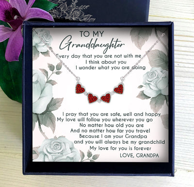 MY LOVE FOR YOU IS FOREVER - NECKLACE FOR GRANDDAUGHTER FROM GRANDPA