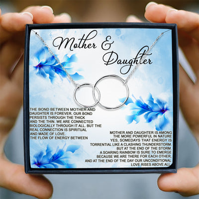 THE BOND BETWEEN MOTHER AND DAUGHTER IS FOREVER - NECKLACE FOR MOTHER & DAUGHTER
