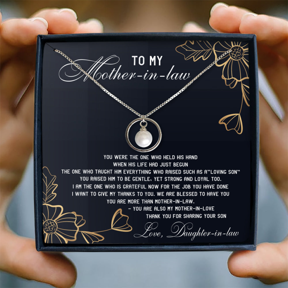 WE ARE BLESSED TO HAVE YOU - NECKLACE FOR MOTHER-IN-LAW FROM DAUGHTER-IN-LAW
