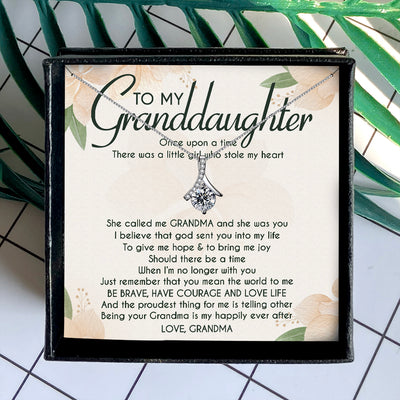 I BELIEVE THAT GOD SENT YOU INTO MY LIFE - NECKLACE FOR GRANDDAUGHTER