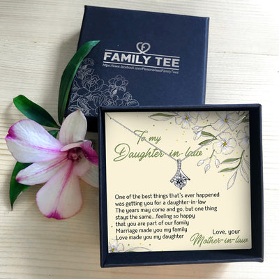 YOU ARE PART OF OUR FAMILY - NECKLACE FOR DAUGHTER-IN-LAW