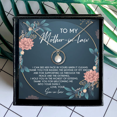 THANK YOU FOR RAISING THE WOMAN OF MY DREAMS - NECKLACE FOR MOTHER-IN-LAW FROM SON-IN-LAW