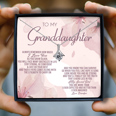 ALWAYS REMEMBER HOW MUCH I LOVE YOU - NECKLACE FOR GRANDDAUGHTER