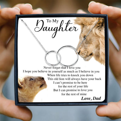 NEVER FORGET THAT I LOVE YOU - NECKLACE FOR DAUGHTER