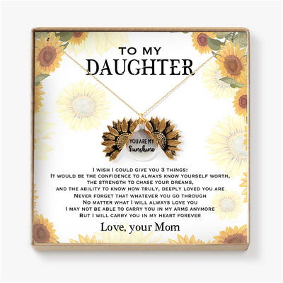 I WILL CARRY YOU IN MY HEART FOREVER - NECKLACE FOR DAUGHTER