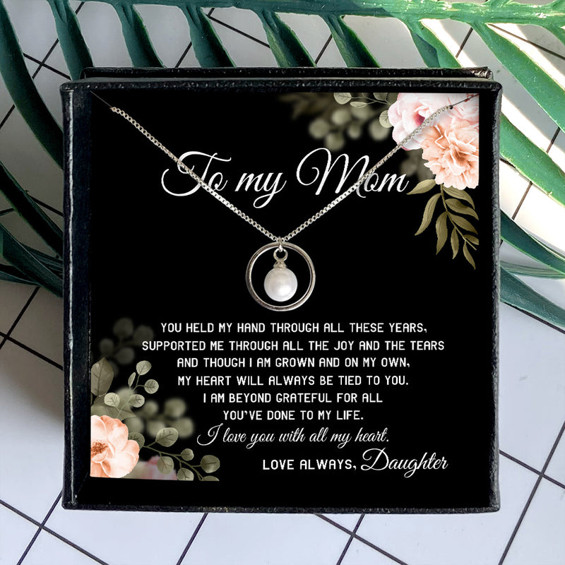 I LOVE YOU WITH ALL MY HEART - NECKLACE FOR MOM FROM DAUGHTER