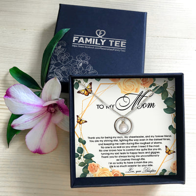 LIFE IS SO MUCH SWEETER BY YOUR SIDE - NECKLACE FOR MOM FROM DAUGHTER