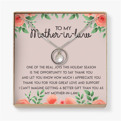 THANK YOU FOR YOUR GREAT LOVE AND SUPPORT - NECKLACE FOR MOTHER-IN-LAW