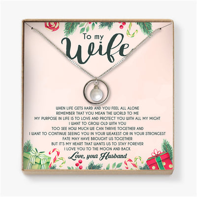 REMEMBER THAT YOU MEAN THE WORLD TO ME - NECKLACE FOR WIFE