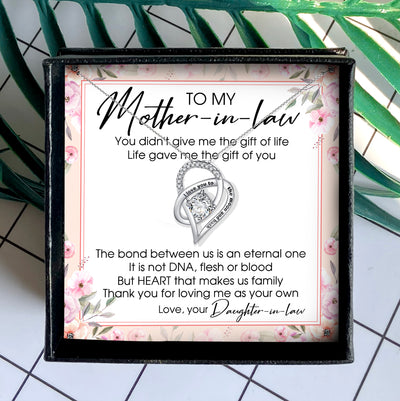 THANK YOU FOR LOVING ME AS YOUR OWN - NECKLACE FOR MOTHER-IN-LAW FROM DAUGHTER-IN-LAW