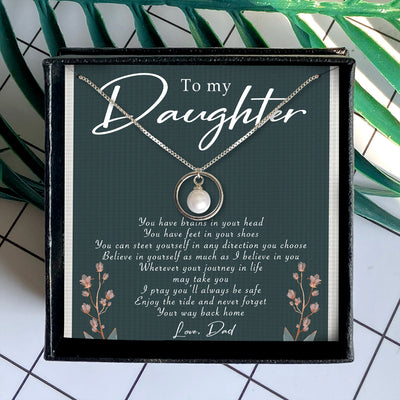 BELIEVE IN YOURSELF - NECKLACE FOR DAUGHTER FROM DAD