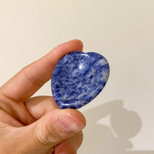 Load image into Gallery viewer, Sodalite Worry Stone (Indented)