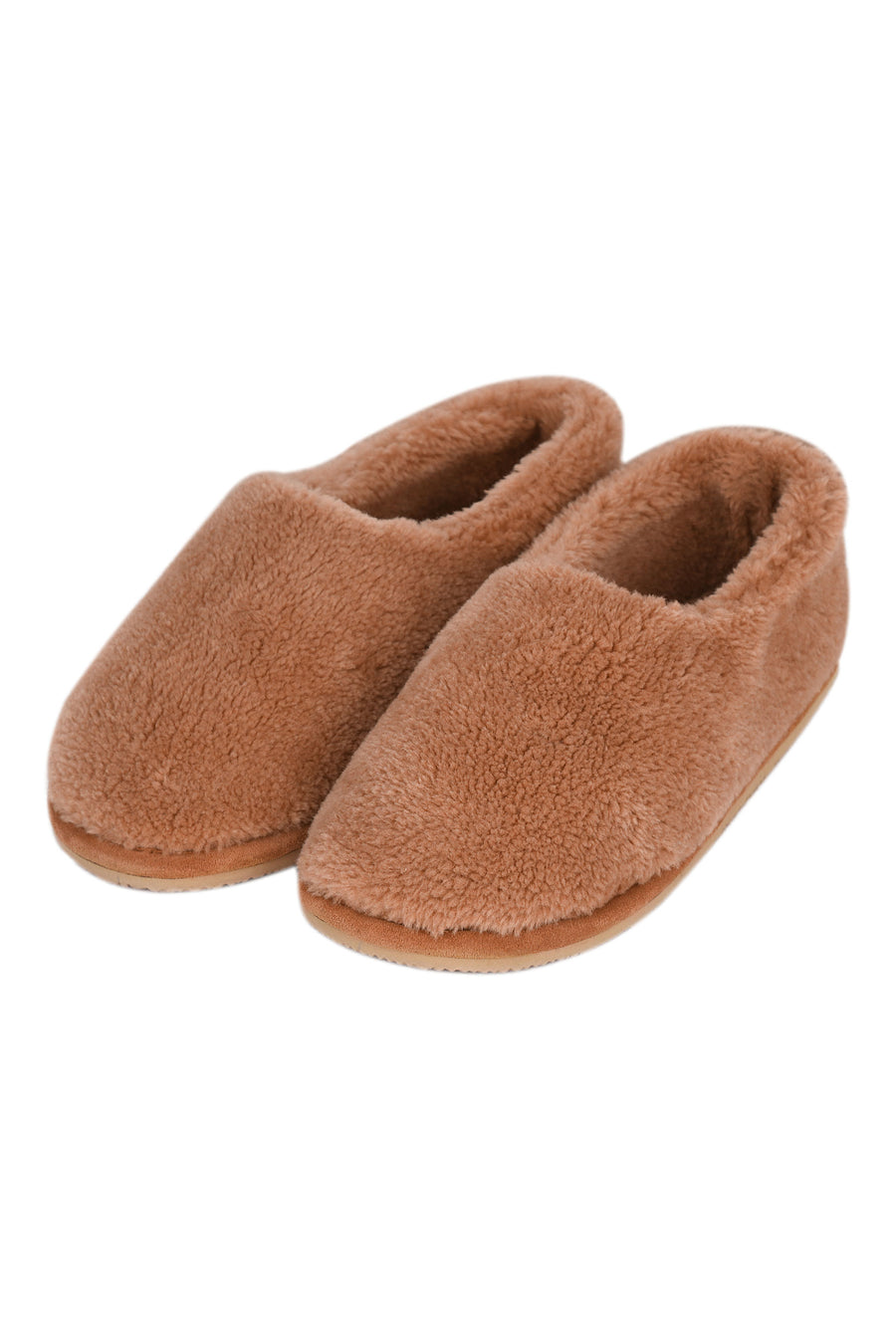 Faux fur ballet slippers