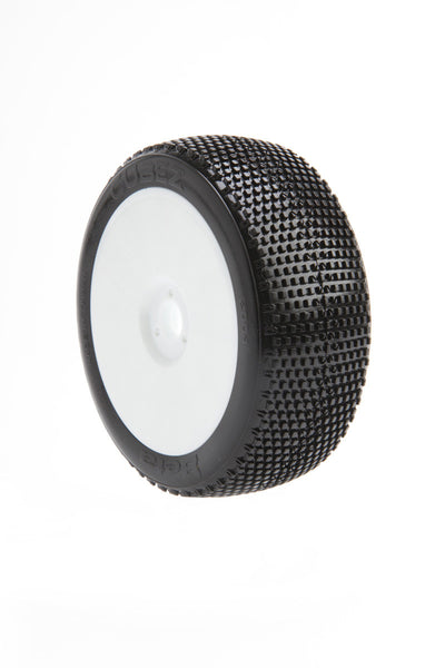 BE2114 Cubez Buggy Tire (White Wheel) (Pr) PRE GLUED