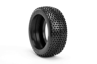 BE2115 Tykytaka Buggy Tire (White Wheel) (Pr) PRE GLUED