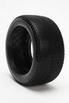 BE3114 Cubez Truggy Tire (White Wheel) (Pr) PRE GLUED