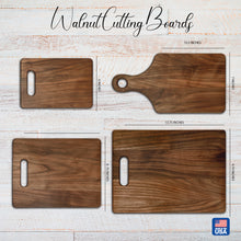 Load image into Gallery viewer, Family Name and Established Date Walnut Cutting Board