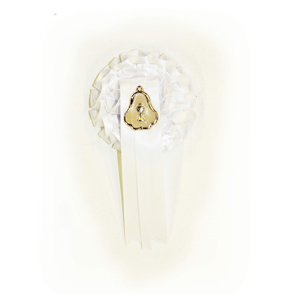 First Holy Communion Rosette Badges with Medal