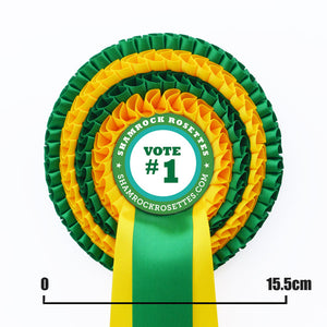 Four Tier Rosette with Three PRINTED Tails