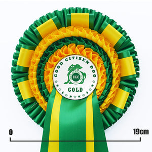 Four Tier Rosette with Decorative Tabs and Two PRINTED Tails