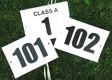 Competitor Class Number Cards - Pack of 100