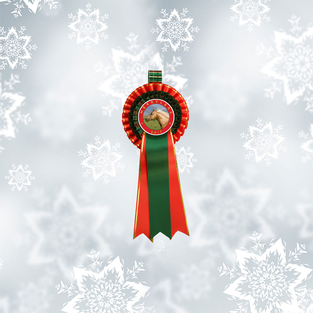 Load image into Gallery viewer, 'Prancer' Christmas Decorative Rosette