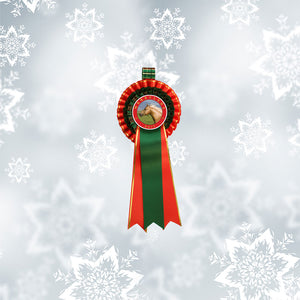 'Prancer' Christmas Decorative Rosette