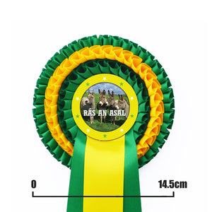 Load image into Gallery viewer, Three Tier Rosette with Two PRINTED Tails