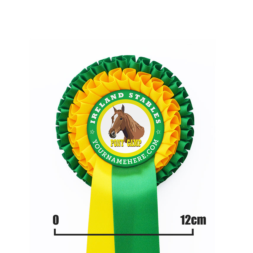 Two Tier Rosette with One PRINTED Tail