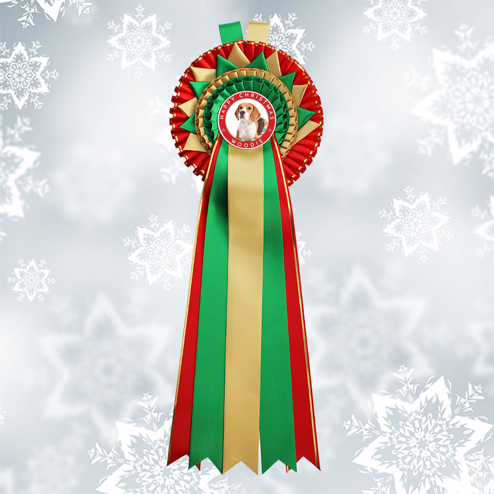 Load image into Gallery viewer, 'Vixen' Christmas Decorative Rosette