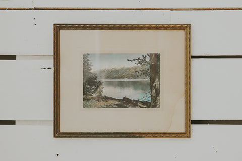 Vintage Hand Tinted Framed Photograph