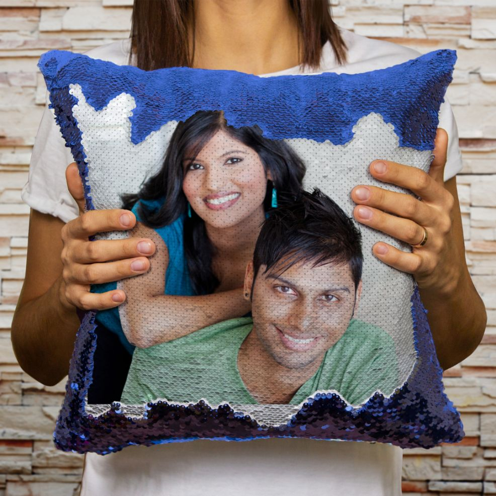 Personalized Magic Sequin Cushion Combo