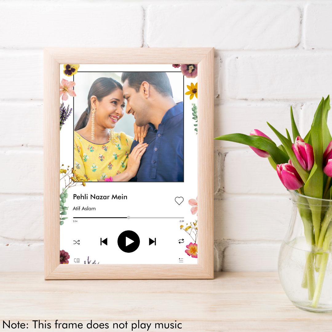 Personalized Music Art - Floral