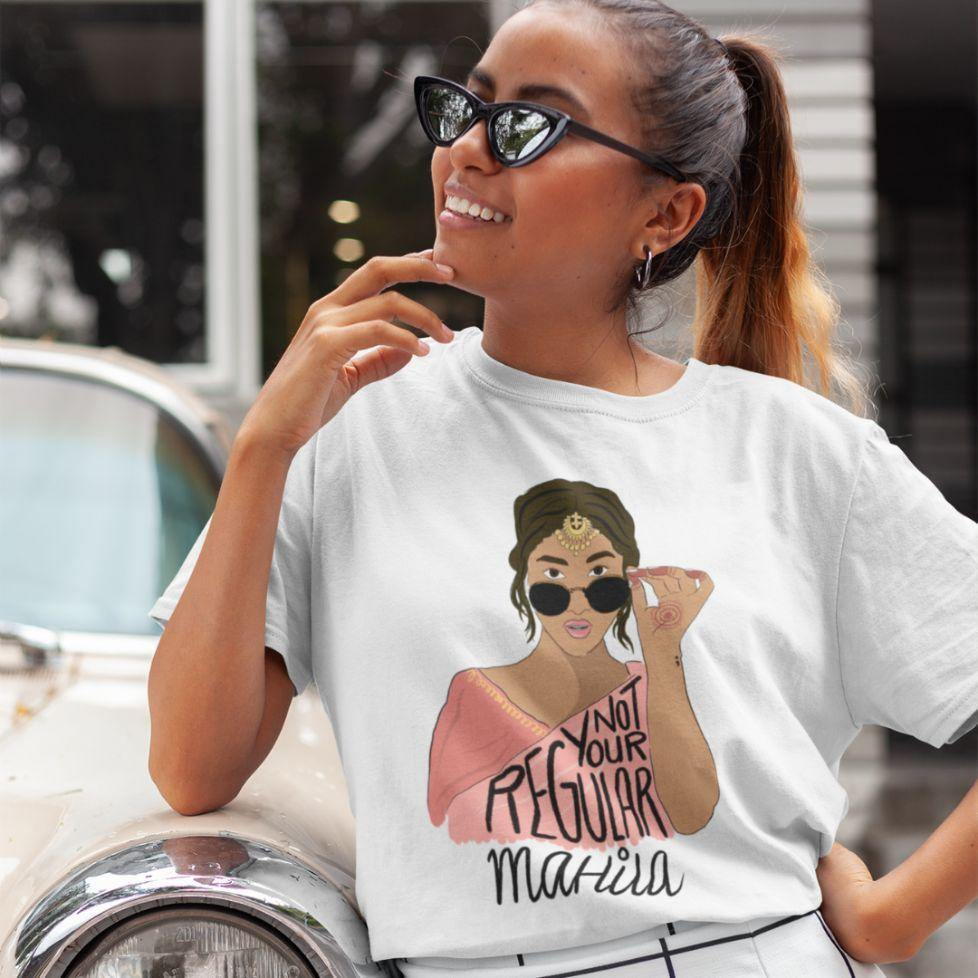 Not Your Regular Mahila - Boyfriend Tshirt - Daily Suvichar Store