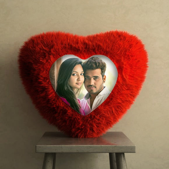 Best Great Quality Personalized Red Heart Printed Cushion