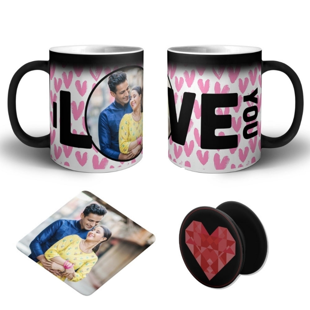I Love You - Personalized Magic Mug COMBO