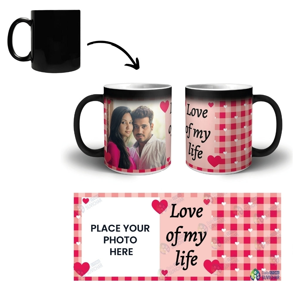 Love Of My Life - Personalized Magic Mug COMBO