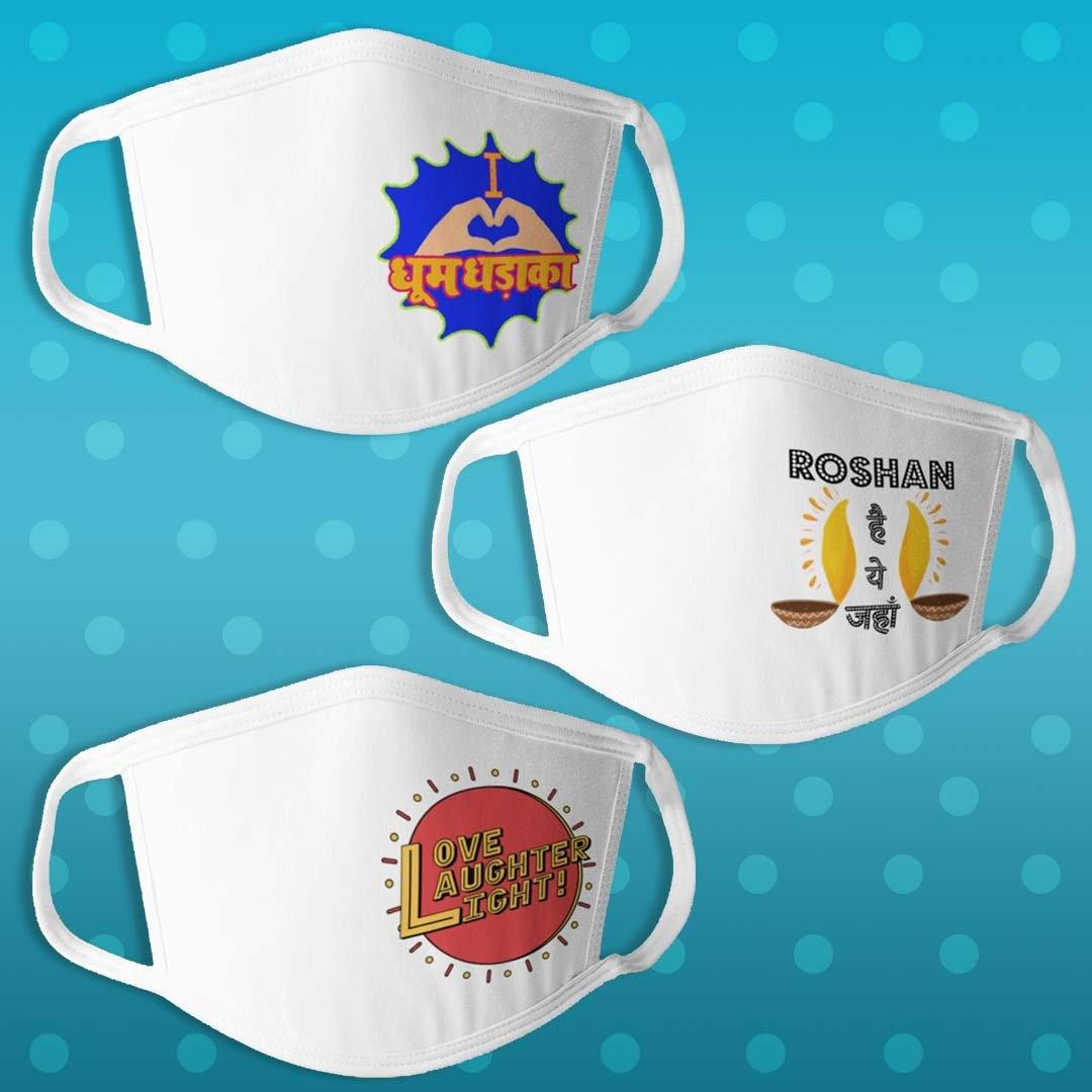 Diwali Edition - Pack of 3 Masks - Daily Suvichar Store