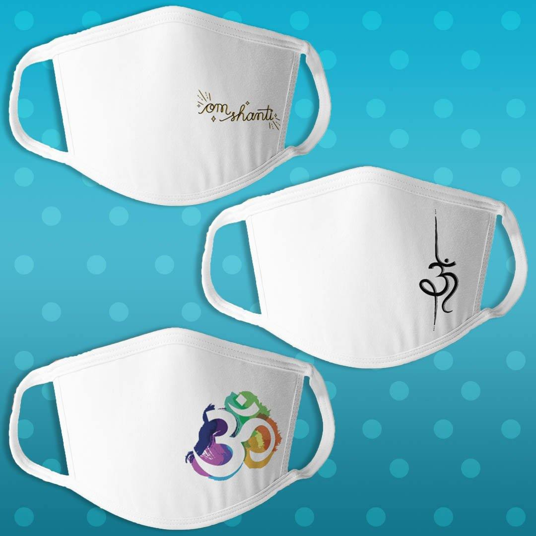 Spiritual Edition 1 - Pack of 3 Masks - Daily Suvichar Store